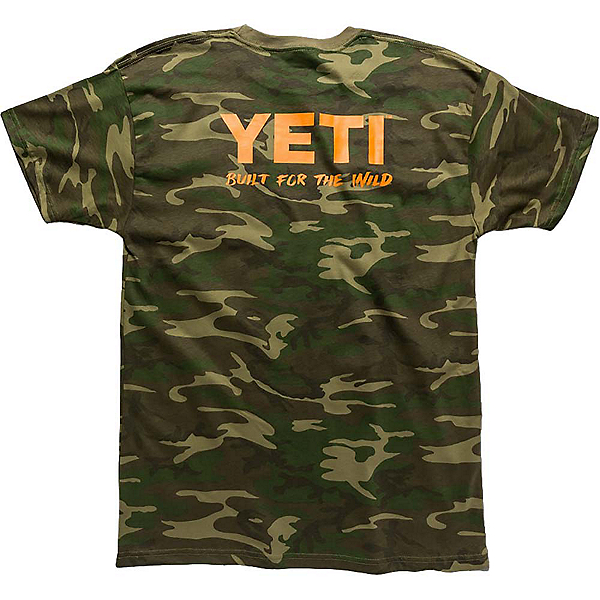 YETI Built For The Wild Pocket Tee Mens T-Shirt, Camo, 600