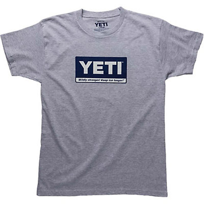 YETI Billboard Tee Mens T-Shirt, Gray, viewer