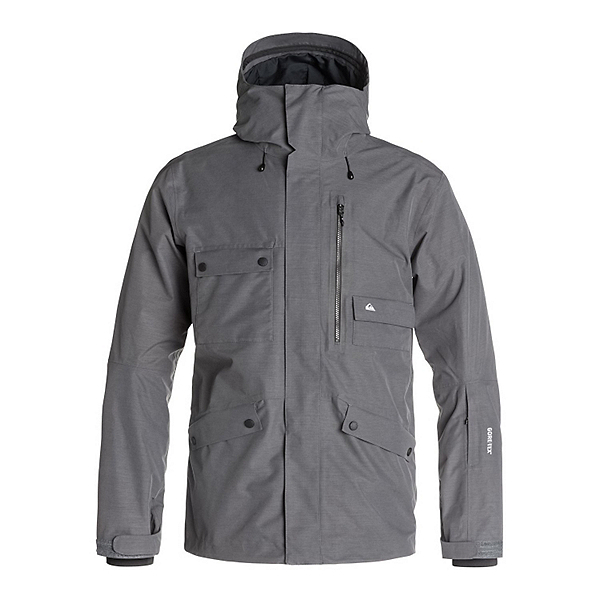 Quiksilver Northwood 2L GORE-TEX Mens Shell Snowboard Jacket, Iron Gate, 600
