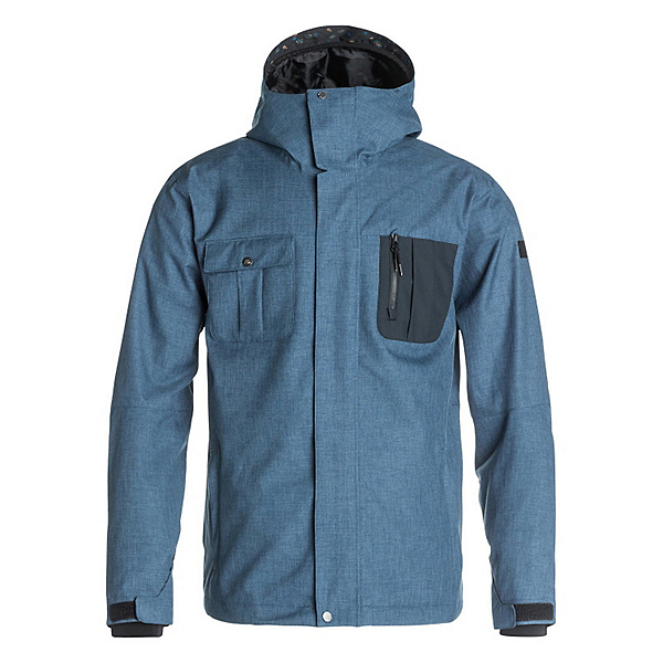 Quiksilver Illusion Mens Shell Snowboard Jacket, , 600