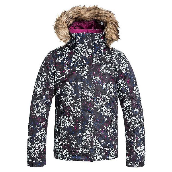Roxy American Pie w/ Faux Fur Girls Snowboard Jacket, Ditsy Floral, 600