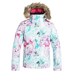 Roxy American Pie Faux Fur Girls Snowboard Jacket, Snowtwist, 256
