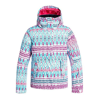 Roxy Jetty Girls Snowboard Jacket, Plaid Lines, viewer