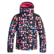 Roxy Jetty Girls Snowboard Jacket, Cosmic Dots, medium