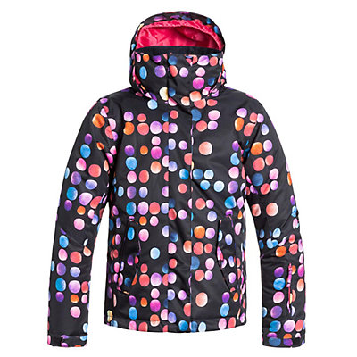 Roxy Jetty Girls Snowboard Jacket, Plaid Lines, viewer