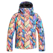 Roxy Jetty Girls Snowboard Jacket, Woodsey, medium