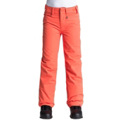 Roxy Backyard Girls Snowboard Pants, Nasturtium, medium