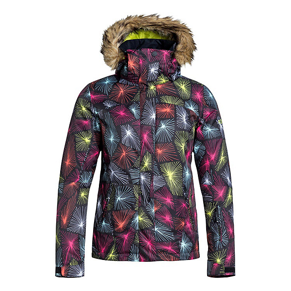 Roxy Jet Ski w/Faux Fur Womens Insulated Snowboard Jacket, Deepa, 600