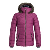 Roxy Quinn w/Faux Fur Womens Insulated Snowboard Jacket, Magenta Purple, medium