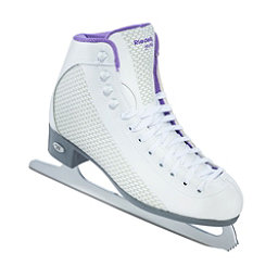 Riedell 113 Sparkle Womens Figure Ice Skates, White-Violet, 256