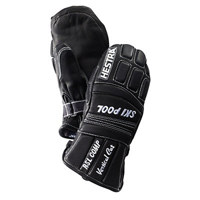 Hestra RSL Comp Vertical Cut Junior Ski Racing Mittens, Black, viewer