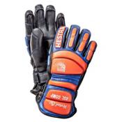Hestra RSL Comp Vertical Cut Ski Racing Gloves, Black-Flame Red, medium