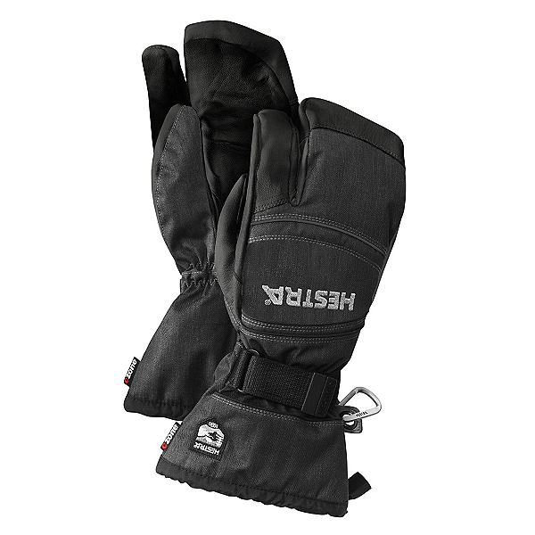 Hestra CZone Mountain 3 Finger Gloves, Charcoal-Black, 600