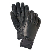 Hestra Touch Point Leather Gloves, Black, medium