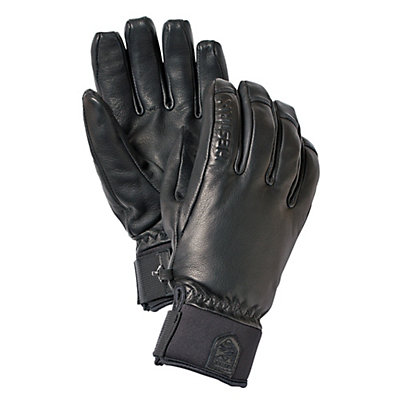 Hestra Touch Point Leather Gloves, Black, viewer