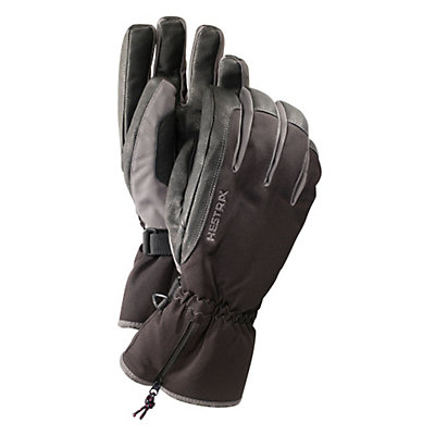 Hestra CZone Leather Gloves, Black-Grey, viewer