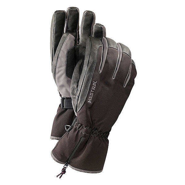 Hestra CZone Leather Gloves, Black-Grey, 600