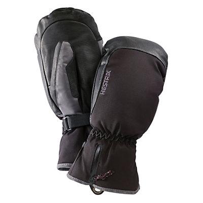 Hestra CZone Leather Mittens, Black-Grey, viewer