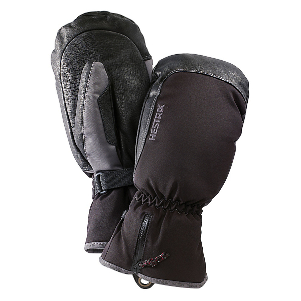 Hestra CZone Leather Mittens, Black-Grey, 600