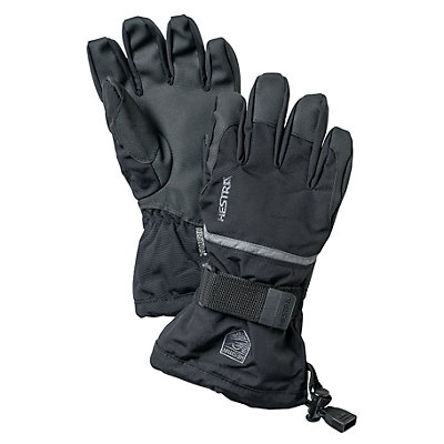 Hestra CZone Gauntlet Kids Gloves, Black-Earth, viewer