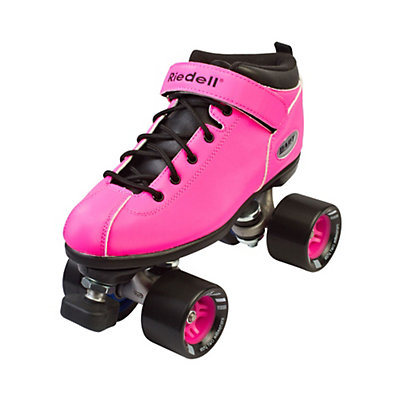 Riedell Dart Neon Pink Womens Speed Roller Skates 2017, Neon Pink, viewer