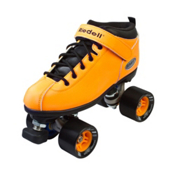Riedell Dart Neon Orange Womens Speed Roller Skates 2016, , medium