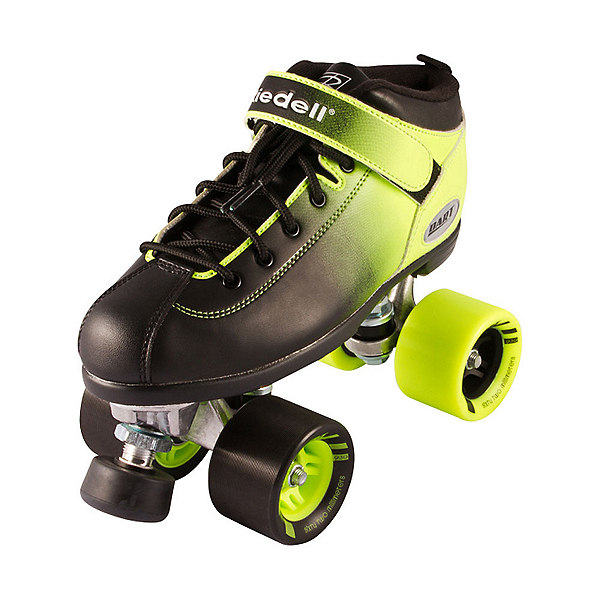 Riedell Dart Ombre Speed Roller Skates 2017, Neon Green, 600