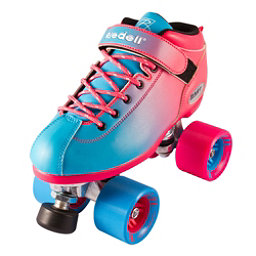 Riedell Dart Ombre Speed Roller Skates 2017, Blue Pink, 256