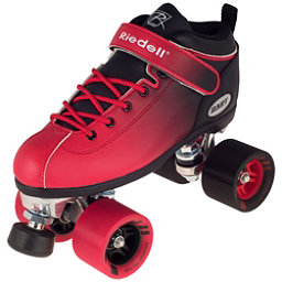 Riedell Dart Ombre Speed Roller Skates 2017, Red Black, 256