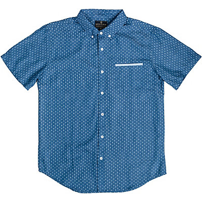 United By Blue Wenlock Chambray Mens Shirt, Cross Dot, viewer