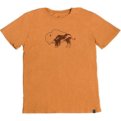 United By Blue Starry Bison Mens T-Shirt, Golden Oak, viewer