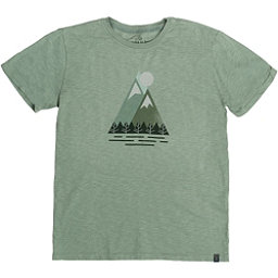 United By Blue Triangle Peak Mens T-Shirt, Green, 256