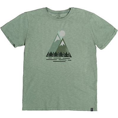 United By Blue Triangle Peak Mens T-Shirt, Green, viewer