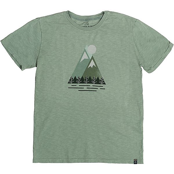 United By Blue Triangle Peak Mens T-Shirt, Green, 600