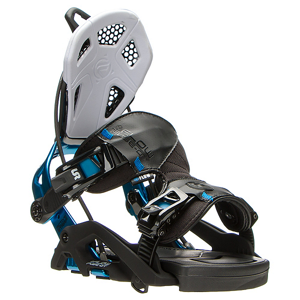 Flow Fuse GT Snowboard Bindings, Black-Blue, 600
