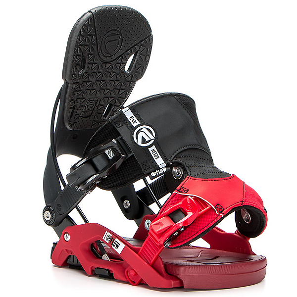 Flow Nexus Snowboard Bindings, Black-Red, 600