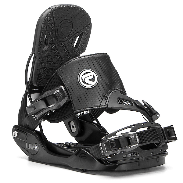 Flow Five Hybrid Snowboard Bindings, Black, 600