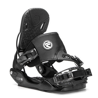 Flow Five Hybrid Snowboard Bindings, Black, viewer