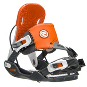 Flow Five Hybrid Snowboard Bindings, Grey-Orange, medium
