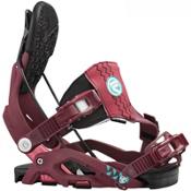 Flow Juno Hybrid Womens Snowboard Bindings, Purple, medium