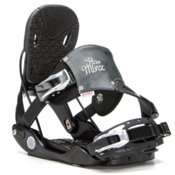 Flow Minx Hybrid Womens Snowboard Bindings, Black, medium