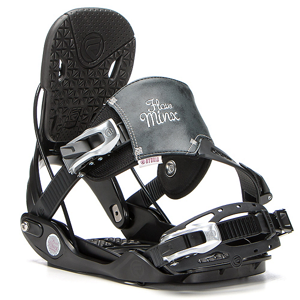 Flow Minx Hybrid Womens Snowboard Bindings, Black, 600