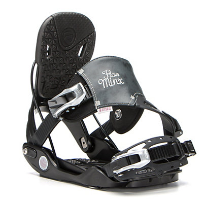 Flow Minx Hybrid Womens Snowboard Bindings, Black, viewer