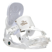 Flow Minx Hybrid Womens Snowboard Bindings, White, medium
