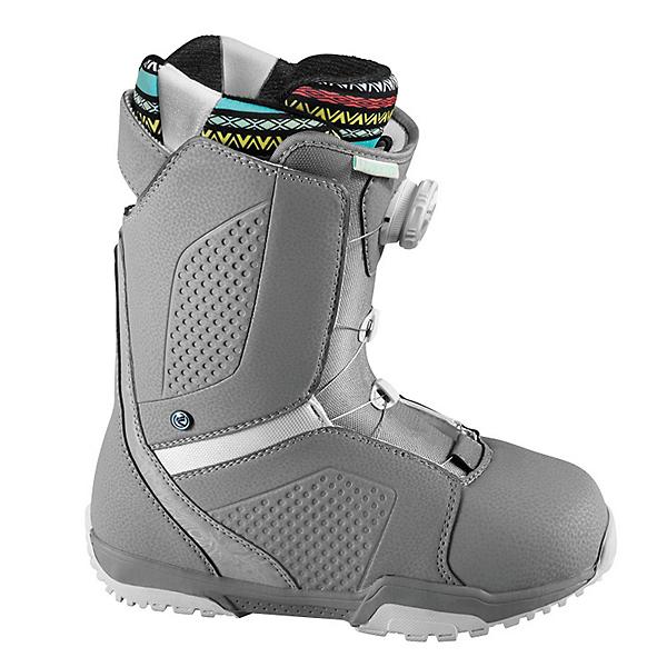 Flow Hyku Boa Womens Snowboard Boots, Grey-White, 600