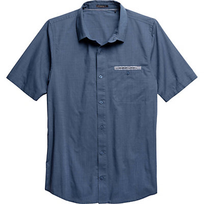 Toad&Co Huckleberry SS Mens Shirt, Moody Blue, viewer
