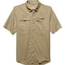 Under Armour Fish Stalker Short Sleeve Mens Shirt, Enamel-Black, 256