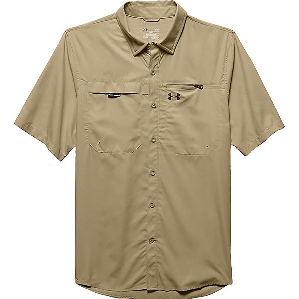 Under Armour Fish Stalker Short Sleeve Mens Shirt, Enamel-Black, 600