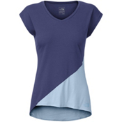 The North Face Nueva Womens T-Shirt, Patriot Blue-Powder Blue, medium