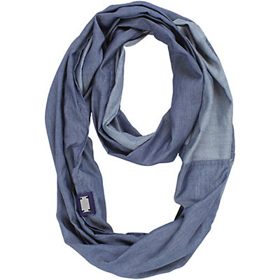 The North Face Breeze Back Scarf, Indigo Chambray, viewer